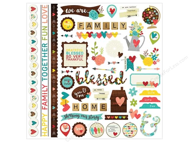 Simple Stories Sticker We Are Family Fundamentals (12 sheets)