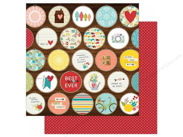 """Simple Stories We Are Family Collection Paper 12""""x 12"""" Perfect Together (25 sheets)"""