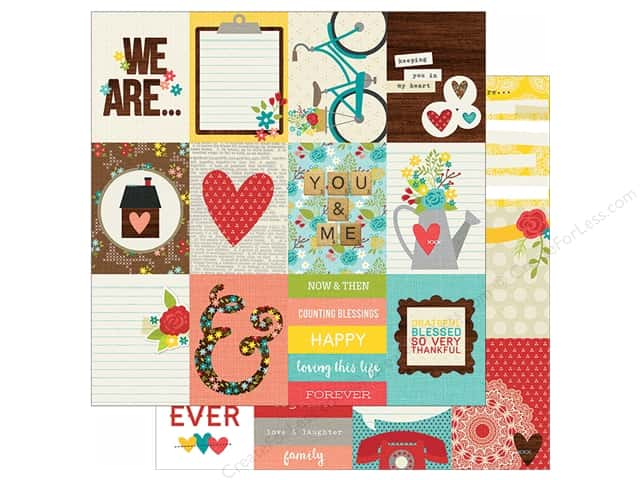 Simple Stories 12 x 12 in. Paper We Are Family 3x4 Journaling Card Elements (25 sheets)