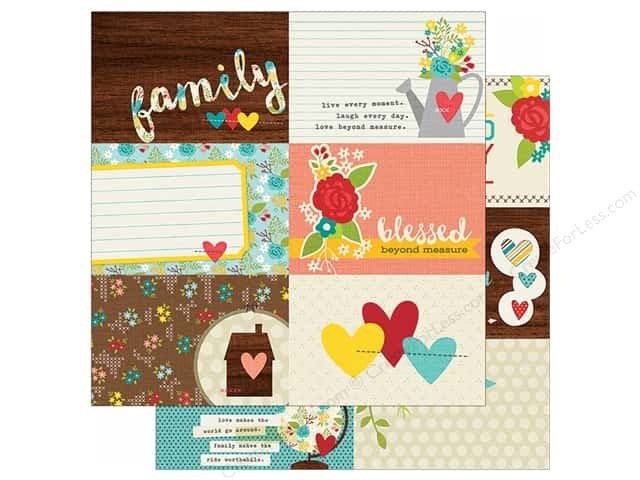 Simple Stories 12 x 12 in. Paper We Are Family 4x6 Horizontal Journaling Card Elements (25 sheets)
