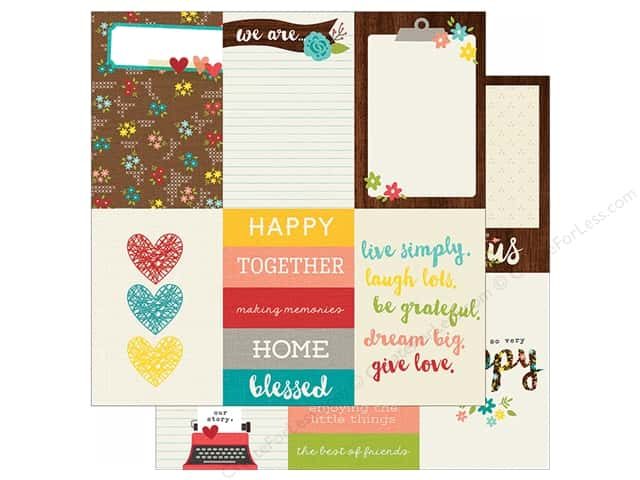 Simple Stories 12 x 12 in. Paper We Are Family 4x6 Vertical Journaling Card Elements (25 sheets)