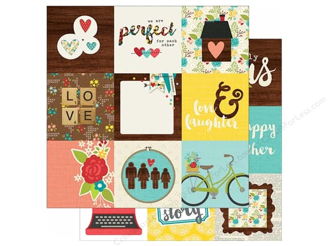 Simple Stories 12 x 12 in. Paper We Are Family 4x4 Elements (25 sheets)