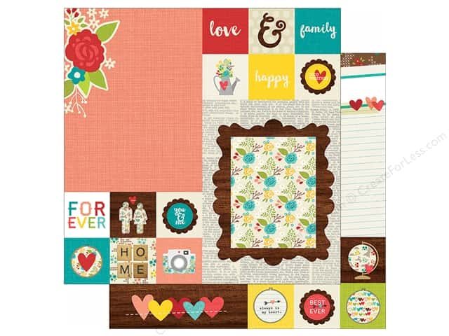 Simple Stories 12 x 12 in. Paper We Are Family 2x2 & 6x8 Elements (25 sheets)