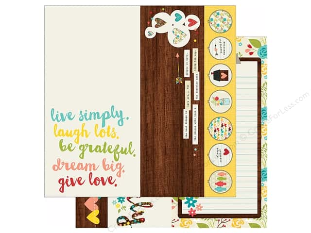"Simple Stories We Are Family Collection Paper 12""x 12"" Element 2""x 12"" (25 sheets)"