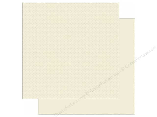 "Simple Stories We Are Family Collection Paper 12""x 12"" Cream Calico/Linen (25 sheets)"