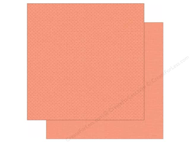 Simple Stories 12 x 12 in. Paper We Are Family Salmon Calico/Linen (25 sheets)