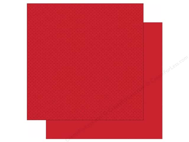 Simple Stories 12 x 12 in. Paper We Are Family Red Calico/Linen (25 sheets)