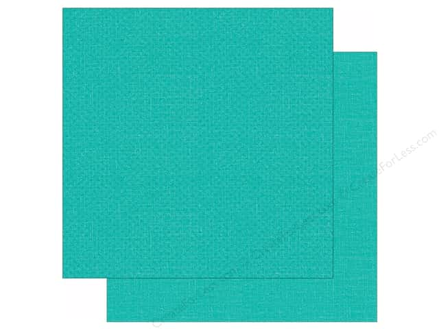 """Simple Stories We Are Family Collection Paper 12""""x 12"""" Teal Calico/Linen (25 sheets)"""