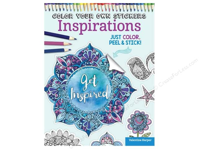 Design Originals Color Your Own Stickers Inspirations Coloring Book