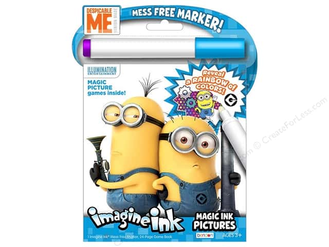 Bendon Imagine Ink Magic Ink Pictures Book Despicable Me