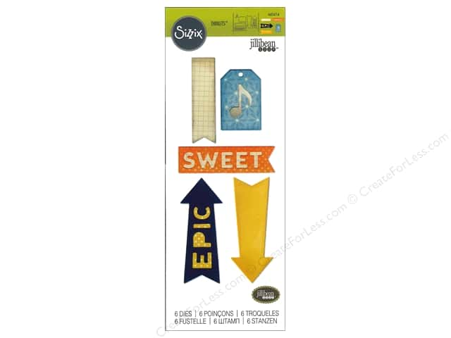 Sizzix Thinlits Die Set 6 pc. Epic & Sweet