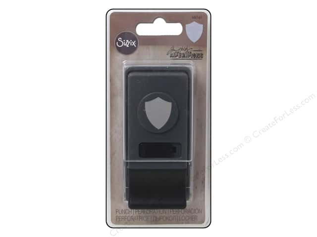 Sizzix Paper Punch Medium Shield by Tim Holtz