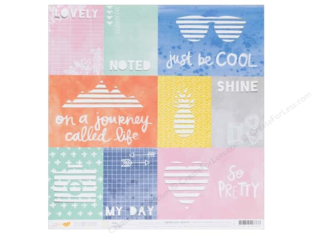 American Crafts 12 x 12 in. Paper Finders Keepers Scout (15 sheets)