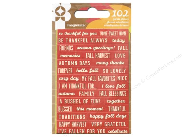 Imaginisce Give Thanks Collection Sticker Phrase