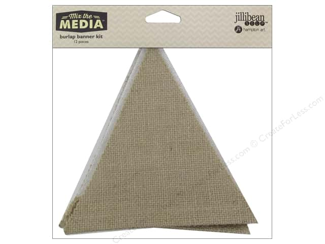 Hampton Art Mix The Media Burlap Banner 12pc
