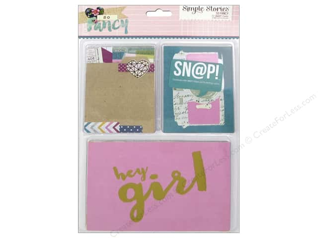 Simple Stories Collection So Fancy Snap Cards Foil