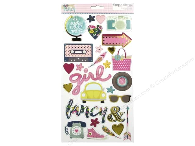 Simple Stories Collection So Fancy Sticker Chipboard