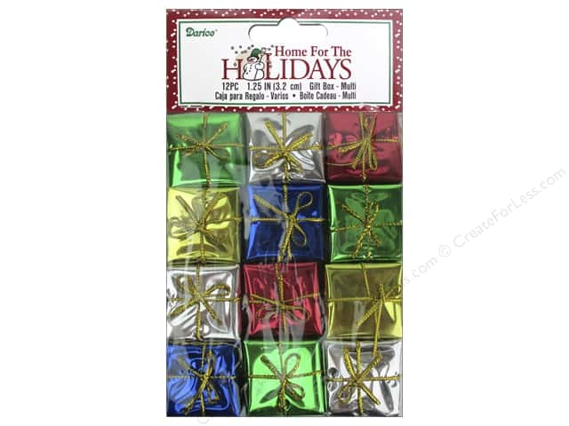 Darice Holiday Gift Boxes 1 1/4 in. Assorted 12 pc.