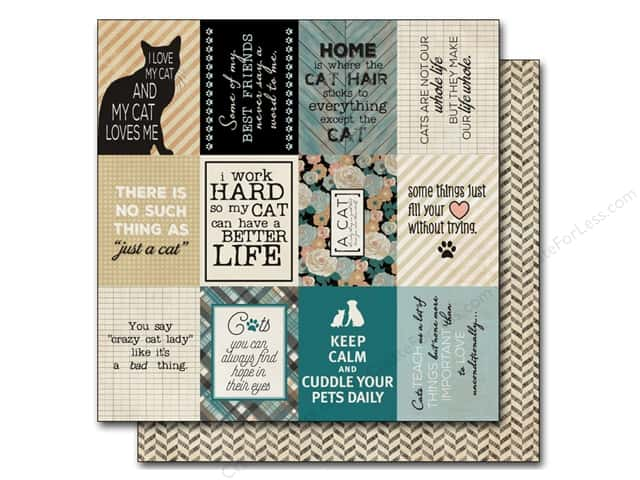 Authentique 12 x 12 in. Paper Devoted Feline (25 sheets)