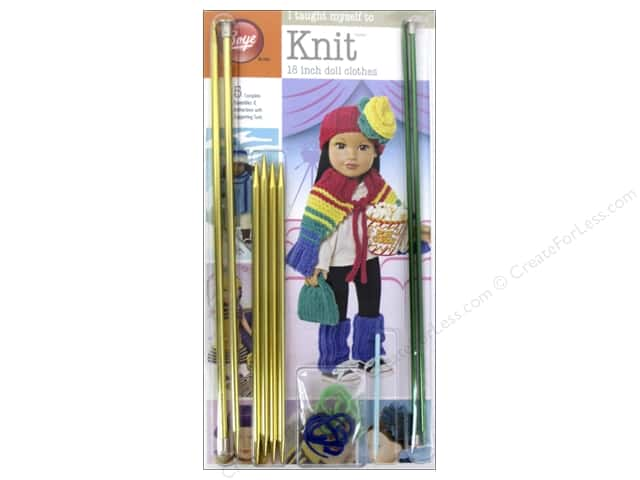 Boye I Taught Myself To Knit 18 in. Doll Clothes Kit