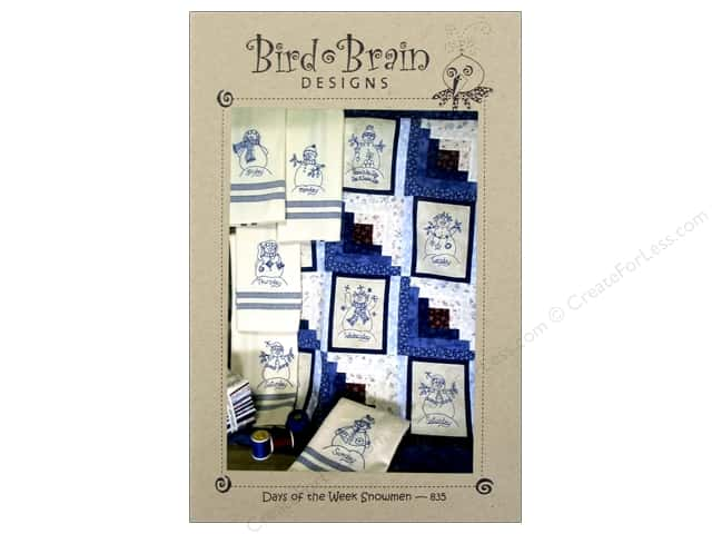 Bird Brain Designs Days Of The Week Snowmen Pattern