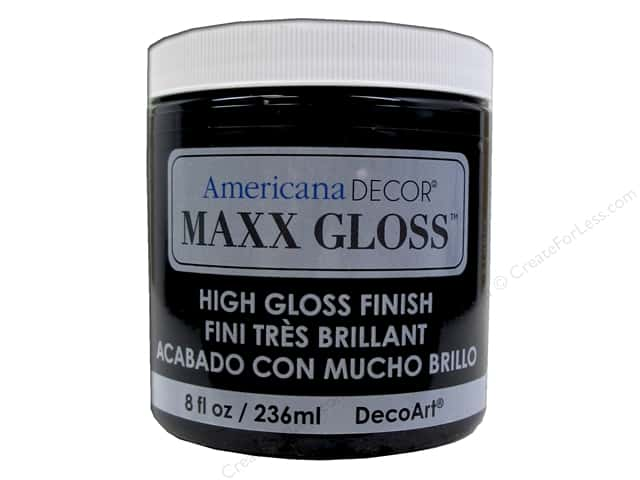 Decoart Americana Decor Maxx Gloss 8 oz. Patent Leather