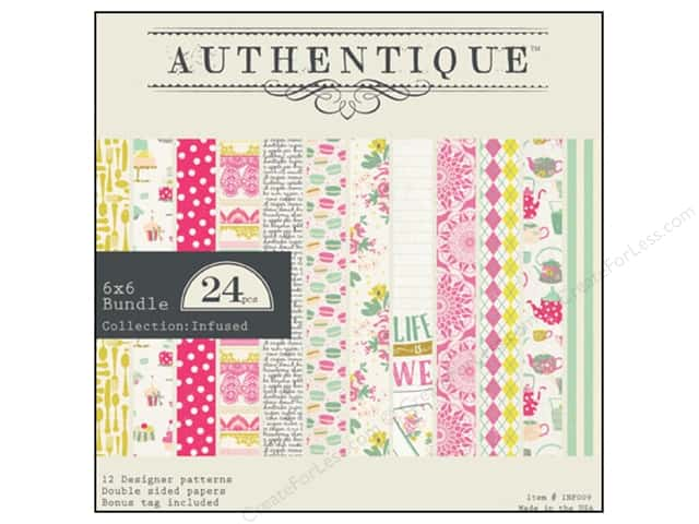 Authentique 6 x 6 in. Paper Bundle Infused Collection