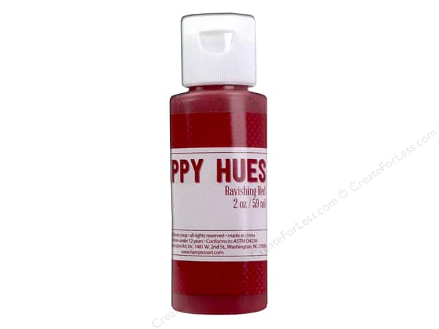 Hampton Art Happy Hues Paint 2 oz. Ravishing Red
