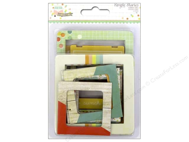 Simple Stories Collection Summer Vibe Chipboard Frames