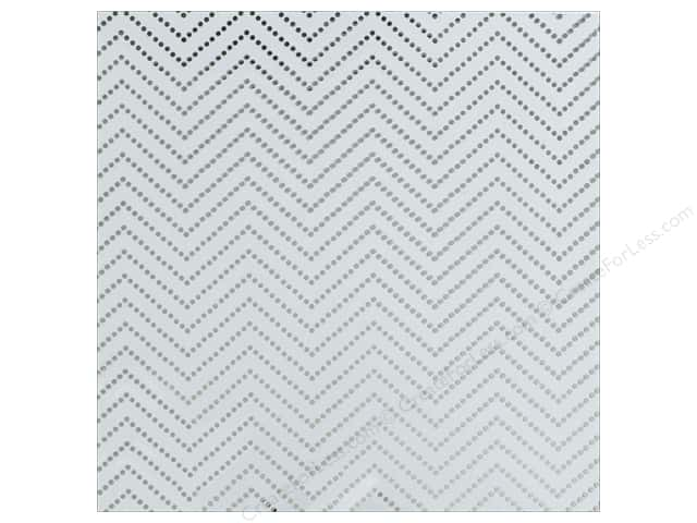 "We R Memory Collection Clearly Posh Acetate 12""x 12"" Chevron Silver (15 sheets)"