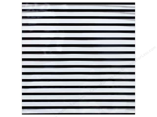 "We R Memory Collection Clearly Posh Acetate 12""x 12"" Stripe Black (15 sheets)"