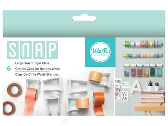 We R Memory Keepers Snap Storage Washi Tape Clips Large 6 pc.
