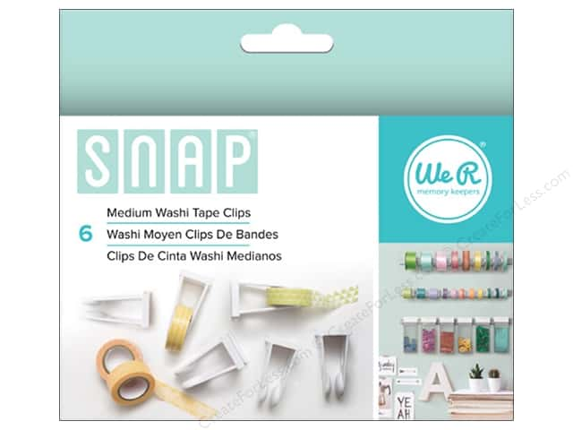 We R Memory Keepers Snap Storage Washi Tape Clips Medium 6 pc.