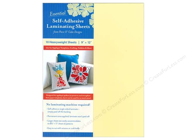 C&T Publishing Notions Self Adhesive Laminating Sheets 9 x 11 3/4 in. 10 pc.