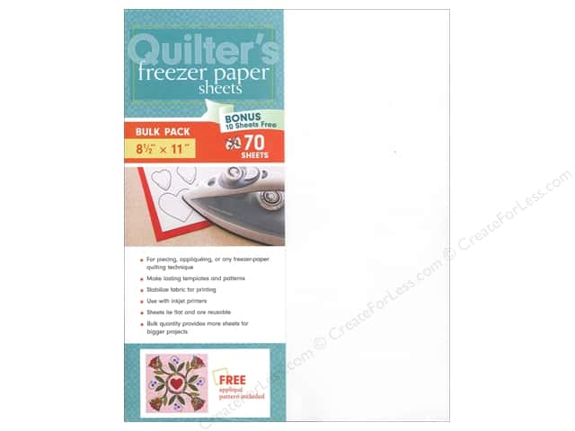 C&T Publishing Notions Quilter's Freezer Paper Sheets 8 1/2 x 11 in. 70 pc.