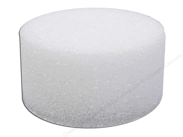"FloraCraft Styrofoam Disc Bulk 4""x 2"" White (36 pieces)"