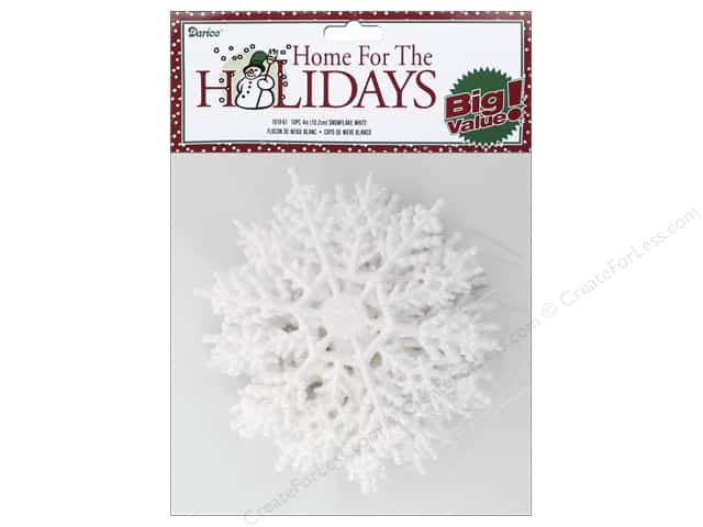 Darice 4 in. Snowflake 10 pc. Glitter White