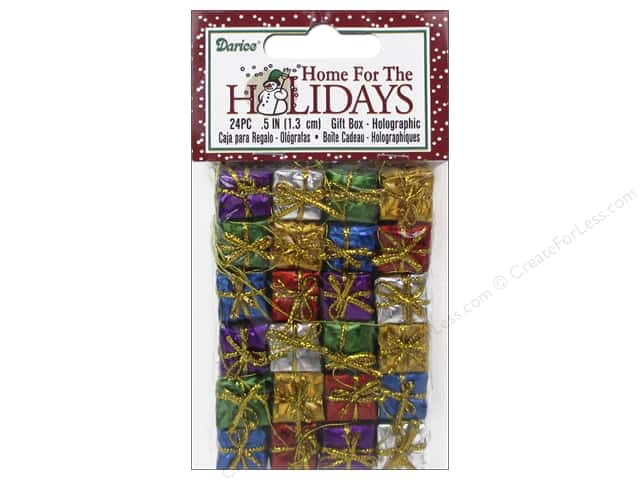 Darice Holiday Gift Boxes 1/2 in. Assorted Holographic 24 pc.