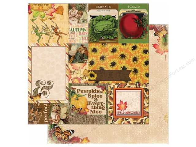 Bo Bunny 12 x 12 in. Paper Enchanted Harvest Collection Bountiful (25 sheets)