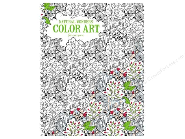 Natural Wonders Color Art For Everyone Coloring Book by Leisure Arts