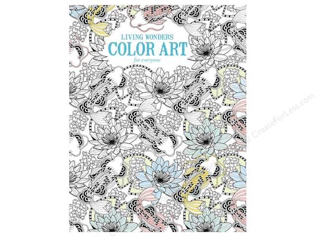 Living Wonders Color Art For Everyone Coloring Book by Leisure Arts