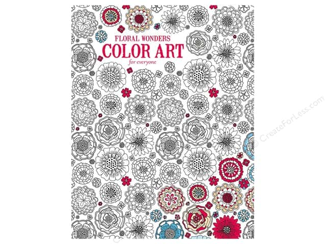 Floral Wonders Color Art For Everyone Coloring Book by Leisure Arts