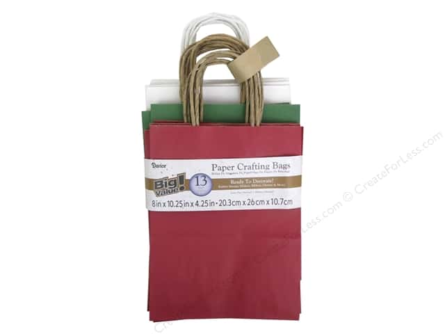 Darice Paper Bags 8 x 10 1/4 in. Christmas 13 pc.