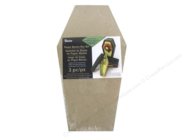 Darice Paper Mache Box Coffin 3pc
