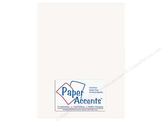 Cardstock 8 1/2 x 11 in. Glossy White by Paper Accents (25 sheets)