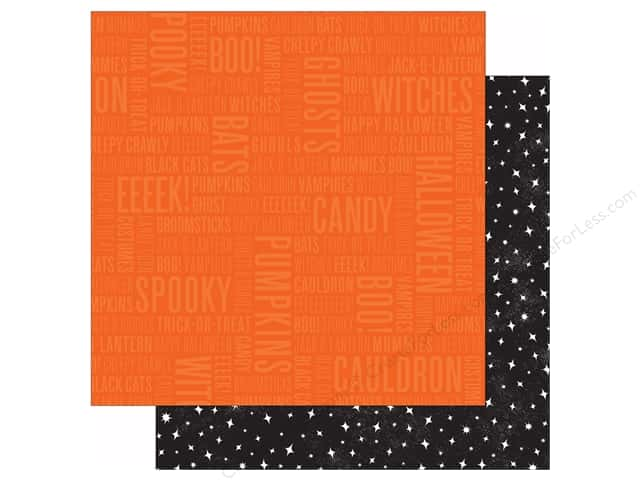 Pebbles 12 x 12 in. Paper Boo Spooky (25 sheets)
