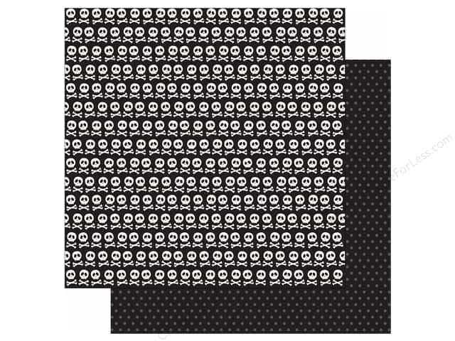 Pebbles 12 x 12 in. Paper Boo Skull & Crossbones (25 sheets)