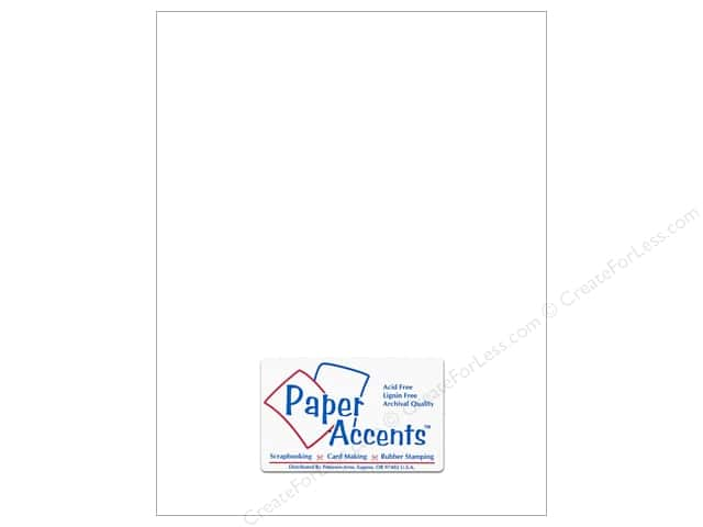 Paper Accents Pearlized Paper 8 1/2 x 11 in. #894 White (25 sheets)