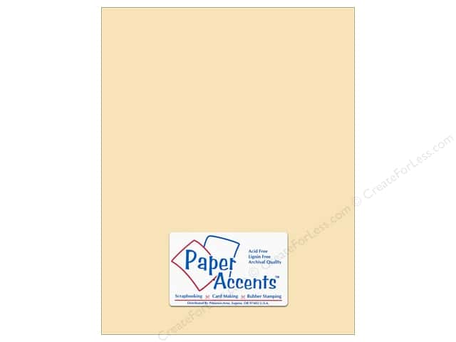 Pearlized Paper 8 1/2 x 11 in. #869C Cornsilk by Paper Accents (25 sheets)