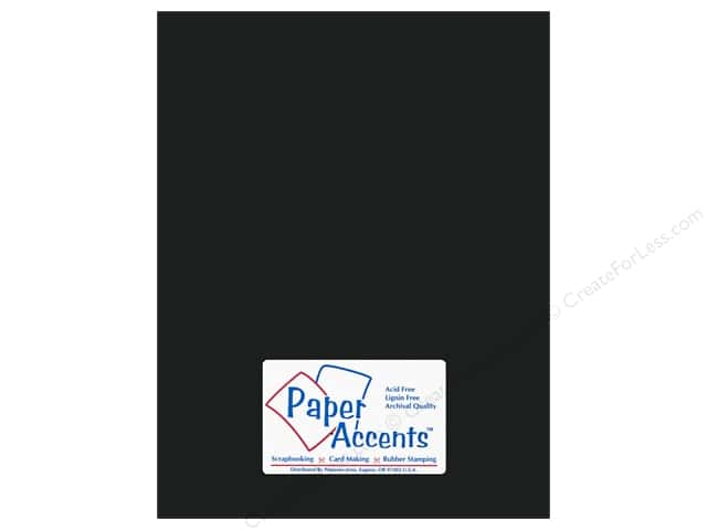 Paper Accents Pearlized Paper 8 1/2 x 11 in. #855 Onyx 5 pc.